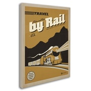 "Trademark Anderson ""Travel by Rail"" Gallery-Wrapped Canvas Arts"