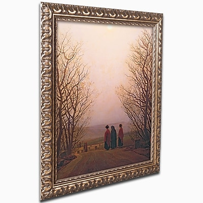 "Trademark Caspar Friedrich ""Easter Morning, 1833"" Ornate Framed Art, 16"" x 20"""