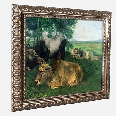 "Trademark Gustave Courbet ""La Siesta"" Ornate Framed Art, 16"" x 20"""