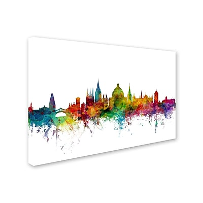 "Trademark Michael Tompsett ""Oxford England Skyline II"" Gallery-Wrapped Canvas Art, 30"" x 47"""
