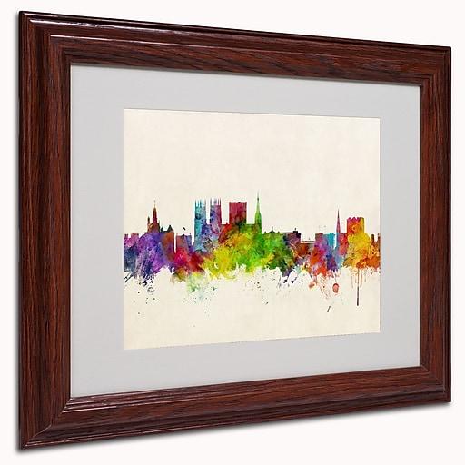 trademark michael tompsett york england skyline art white matte w wood frame 11 x 14 staples. Black Bedroom Furniture Sets. Home Design Ideas