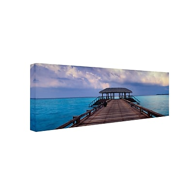 "Trademark David Evans ""Dock of the Bay"" Gallery-Wrapped Canvas Art, 6"" x 19"""