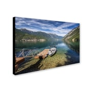 """Trademark Pierre Leclerc """"Lake"""" Gallery-Wrapped Canvas Art, 16"""" x 24"""""""
