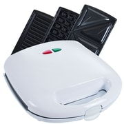 Chef Buddy 750 W 3 in 1 Sandwich Panini Press and Waffle Maker Iron