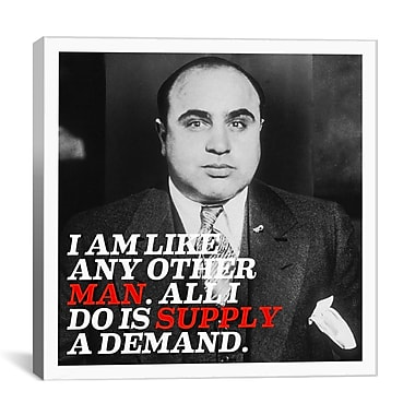 iCanvas Al Capone Quote Photographic Print on Canvas; 26'' H x 26'' W x 1.5'' D