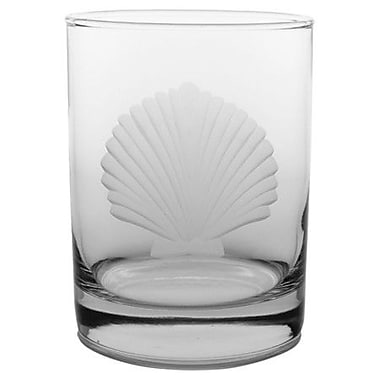 Rolf Glass Seashell Double Old Fashioned Glass (Set of 4)