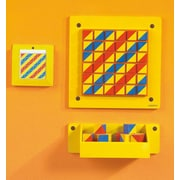 HaPe Beleduc Patterns Graphic Wall Mounted Glass Board, 1' H x 1' W