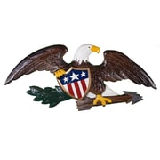 Montague Metal Products Deluxe Eagle Wall D cor; Natural Color