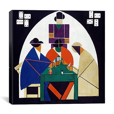 iCanvas ''Card Players'' by Theo van Doesburg Print Painting on Canvas; 37'' H x 37'' W x 1.5'' D
