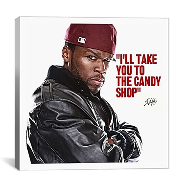 iCanvas 50 Cent Quote Photographic Print on Canvas; 12'' H x 12'' W x 0.75'' D