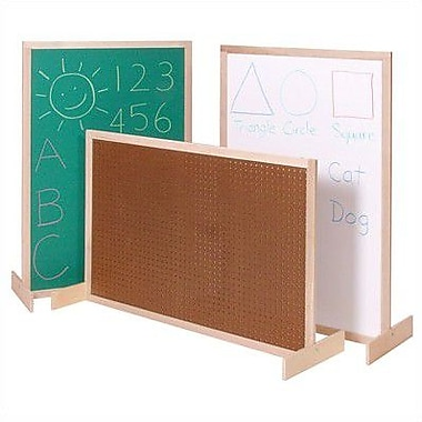 Steffy Two-Position Room Divider Bulletin Board; Pegboard