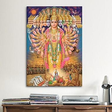 iCanvas Hindu God Vishnu as Virat Swaroop Painting Print on Canvas; 18'' H x 12'' W x 0.75'' D