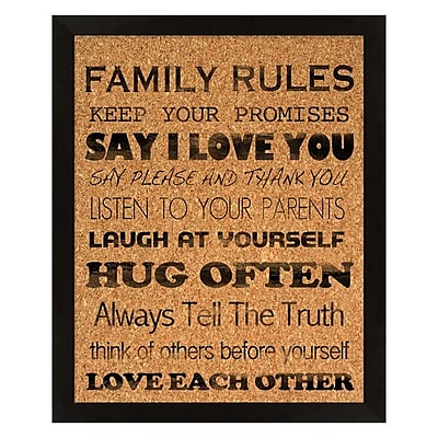PTM Images Family Rules Wall Mounted Bulletin Board