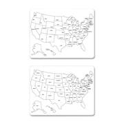 Chenille Kraft USA Map Wall Mounted Whiteboard, 2' H x 2' W