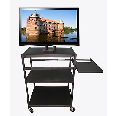 Hamilton Buhl Flat Panel AV Cart w/ Side Pull Out Shelf