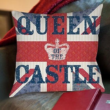 Manual Woodworkers & Weavers My Queen Castle Sue Schlabach Wild Apple Printed Throw Pillow