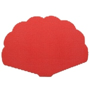 Kraftware Fishnet Shell Placemat (Set of 12); Flag Red