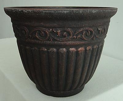 Griffith Creek Designs Fiber Clay Pot Planter; Ironside Brown