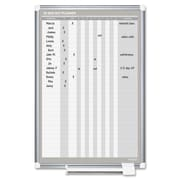 Bi-Silque Visual Communication Product, Inc. In/Out Wall Mounted Planner Whiteboard, 3' H x 2' W