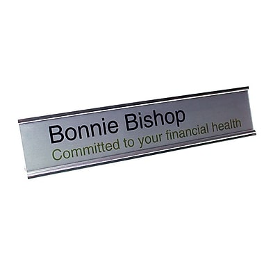 The Mighty Badge Sign Collections Inkjet Silver Deskplate Kit, 2