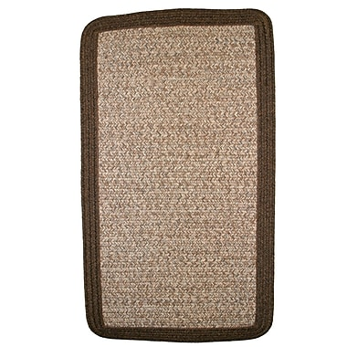 Thorndike Mills Town Crier Brown Heather w/ Brown Solids Indoor/Outdoor Rug; Square 10'