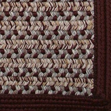 Thorndike Mills Town Crier Burgundy Indoor/Outdoor Rug; Square 8'