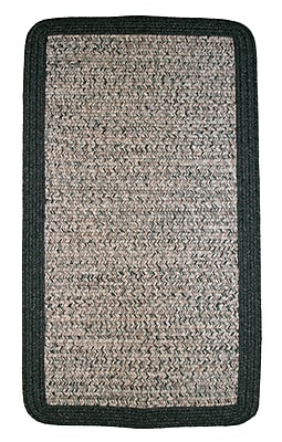Thorndike Mills Town Crier Green Heather w/ Green Solids Indoor/Outdoor Rug; Rectangle 6' x 9'