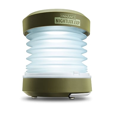Enhance NightLUX EXP Portable LED Lantern Lamp with Optional USB or Hand-Crank Power - Perfect for Camping, Hiking, Outdoor,