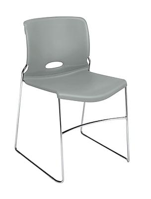 HON® Olson Stacker® High-Density Stacking Chair, Platinum, 4/Carton (HON4041PT)