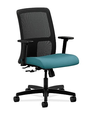HON Ignition Fabric Computer and Desk Office Chair, Adjustable Arms, Glacier (HONIT106CU96)
