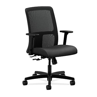 HON Ignition Fabric Computer and Desk Office Chair, Adjustable Arms, Onyx (HONIT106NR10)