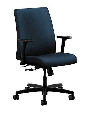 HON Ignition Fabric Computer and Desk Office Chair, Adjustable Arms, Blue (HONIT105AB90)
