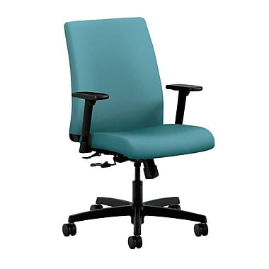 HON Ignition Fabric Computer and Desk Office Chair, Adjustable Arms, Glacier (HONIT105CU96)