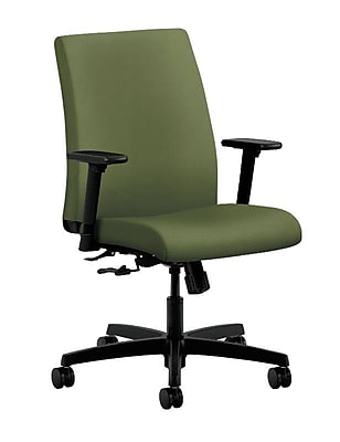 HON Ignition Fabric Computer and Desk Office Chair, Adjustable Arms, Clover (HONIT105NR74)
