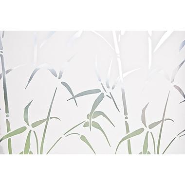 Brewster – Pellicule intimité électrostatique pour fenêtre latérale, motif bambou