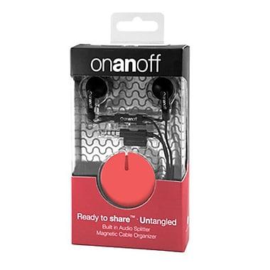 Onanoff – Écouteurs LoveBuds avec accessoire Magneat d'un rouge éclatant (RED-MAG-004), rouge