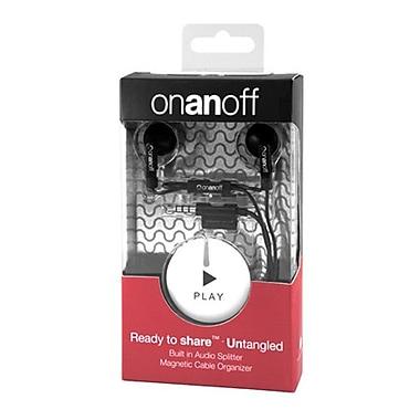 Onanoff – Écouteurs LoveBuds avec accessoire Magneat et inscription « Play » (RED-MAG-010), Play