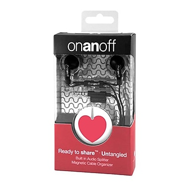 Onanoff LoveBuds with 'Red Heart' Magneat (RED-MAG-012), Red Heart