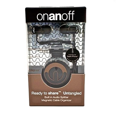 Onanoff Magnum Earbuds Black with Black Magneat (MAG-001-Black), Black