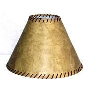 Lamp Factory 15'' Faux Leather Empire Lamp Shade