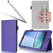 "i-Blason SERO8-1F-PURPLE Synthetic Leather Folio Case for 8"" Hisense Sero, Purple"