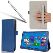 "i-Blason SURFACE3-1F-BLU Slim Book Synthetic Leather Folio Case for 12"" Microsoft Surface Pro 3 Tablet, Blue"