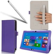 "i-Blason SURFACE3-1F-PUR Slim Book Synthetic Leather Folio Case for 12"" Microsoft Surface Pro 3 Tablet, Purple"