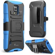 i-Blason Prime Series Dual Layer Holster Case With Kick Stand For Samsung Galaxy S5 Active, Blue