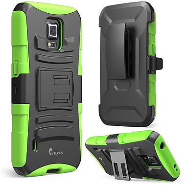 i-Blason Prime Series Dual Layer Holster Case With Kick Stand For Samsung Galaxy S5 Active, Green