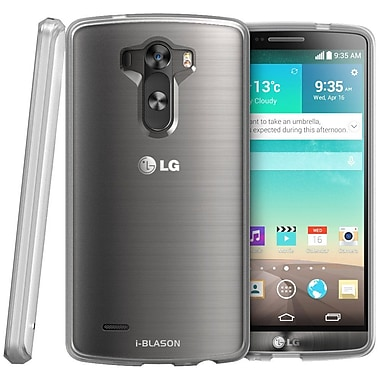 i-Blason Scratch Resistant Hybrid Hard Back Case With TPU Bumper For LG G3, Clear
