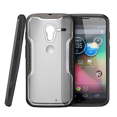 SUPCase Unicorn Beetle Hybrid Case For Motorola Moto X Phone, Clear Black/Black