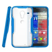 SUPCase Unicorn Beetle Hybrid Case For Motorola Moto X Phone, Clear/Blue