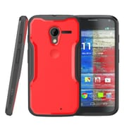 SUPCase Unicorn Beetle Hybrid Case For Motorola Moto X Phone, Red/Black