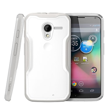 SUPCase Unicorn Beetle Hybrid Case For Motorola Moto X Phone, White/Gray